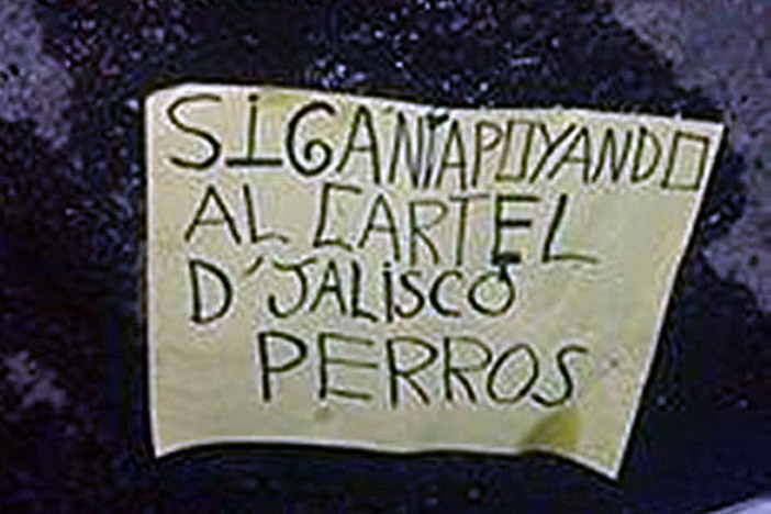 Narcomensaje en Sahuayo