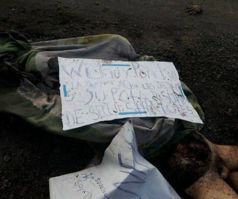 Localizan en Copetiro Michoacán restos humanos con narcomensaje
